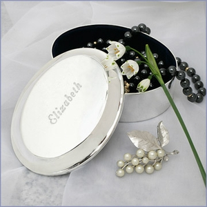 Personalized Large Oval Jewelry Box