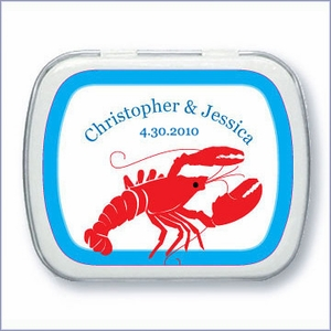 Personalized Lobster Mint Tin Favors