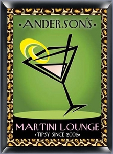 Personalized Martini Lounge Sign