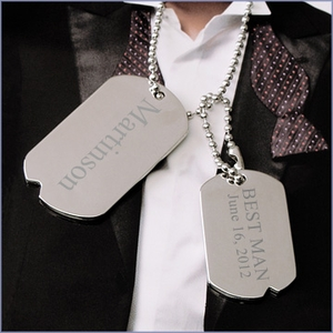Personalized Men's Dog Tag Necklace