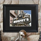 Personalized NHL Pub Sign with Wood Frame