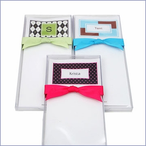 Personalized Note Sheet & Holder (Set of 50)