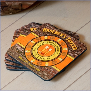 Personalized Old Tavern Coasters - Set of 4