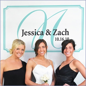Personalized Photo Booth Backdrop - Elegance
