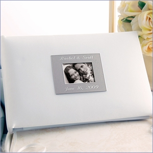 White Photo Guest Book