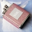 Personalized Pink Crystal Flask