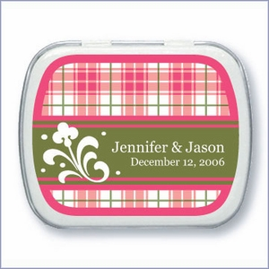 Personalized Plaid Mint Tin Favors