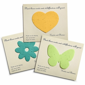 Personalized Plantable Wedding Favor Cards - Pack of 12