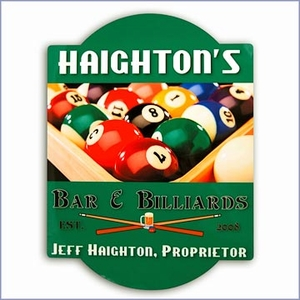 Personalized Pool Table Bar Sign
