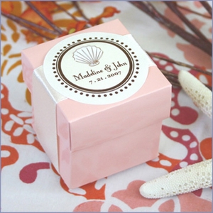 Personalized Round Theme Favor Labels - Set of 12