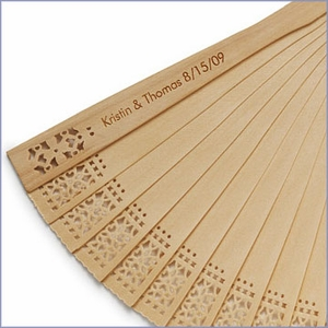 Personalized Sandalwood Fans