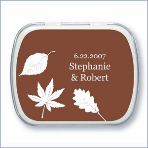 Personalized Season Silhouette Wedding Mint Tins