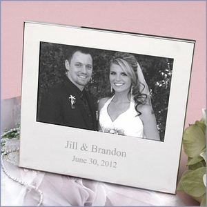Personalized Silver-plated 4x6 Frame
