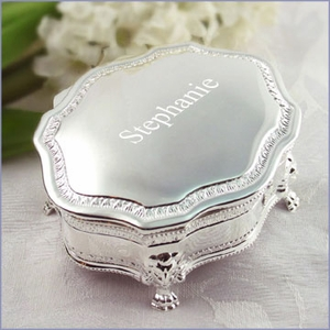 Personalized Silver-plated Princess Jewelry Box