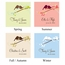 Personalized Small Love Bird Wedding Favor / Gift Tag (Set of 20)