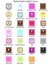 Personalized Square Theme Tags & Labels - Set of 20