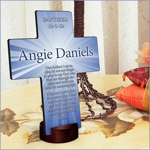 Personalized Starburst Prayer Cross