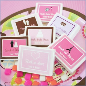 Personalized Stuck on Love Gum Boxes Wedding Favors