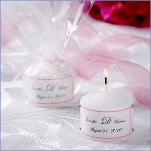 Personalized Tealight Candle Wedding Favors