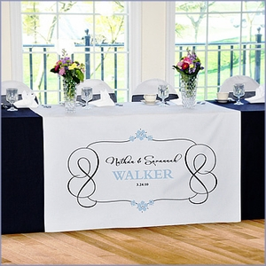 Personalized Timeless Wedding Reception Table Runner