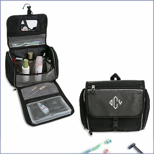 Personalized Travel Toiletry Bag with Mirror