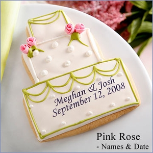 Personalized Wedding Cake Cookie