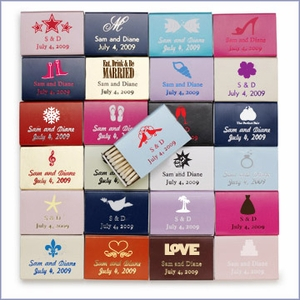 Personalized Wedding Matchboxes Favors - Pack of 100