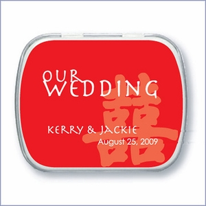 Personalized Wedding Mint Favors - Asian Design