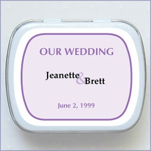 Personalized Wedding Mint Favors - Classic Design