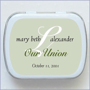 Personalized Wedding Mint Favors - Monogram