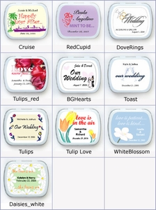 Personalized Wedding Mint Favors - Other Designs