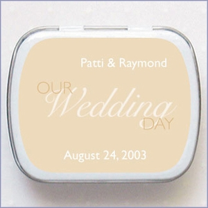 Personalized Wedding Mint Favors - Solid Color