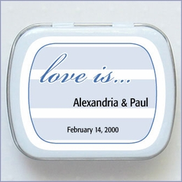 Personalized Wedding Mint Favors - Stripes