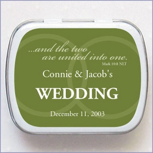 Personalized Wedding Mint Favors - United