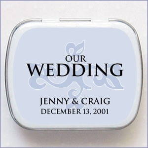Personalized Wedding Mint Favors - Water Mark Design