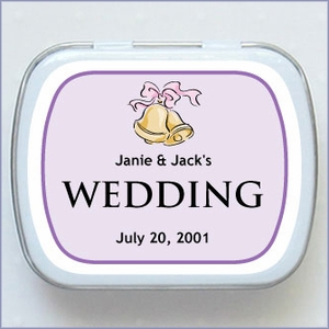 Personalized Wedding Mint Favors - Wedding Bells