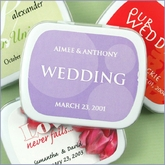 Personalized Wedding Mint Favors - White Tins