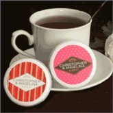 Personalized Wedding Tea Discs