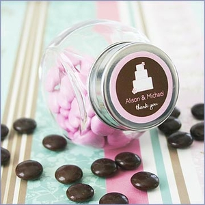 Personalized  Wedding Theme Candy Jars  Favors