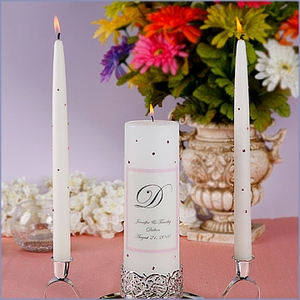 Personalized Wedding Unity Candle Set