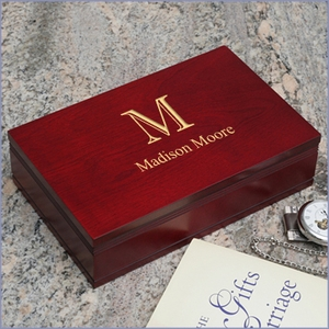 Personalized Wood Desk Box