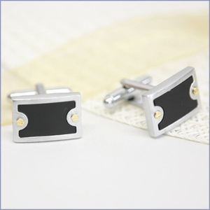 Prestige Black and Brass Cufflinks