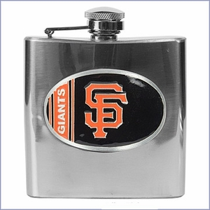 Primary MLB Logo 6oz Stainless Steel Flask