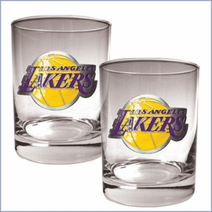 Primary NBA Logo 2pc Rocks Glass Set