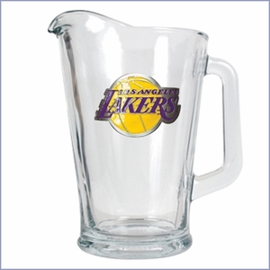 Primary NBA Logo 60oz Glass Pitcher
