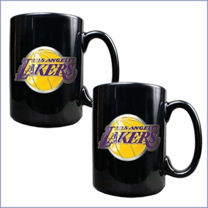 Primary NBA Logo Black Ceramic Mug Set