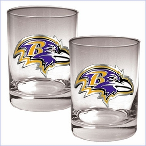 Primary NFL Logo 2pc Rocks Glass Set