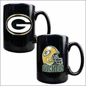 Primary NFL Logo Black Ceramic Mug Set