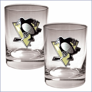 Primary NHL Logo 2pc Rocks Glass Set