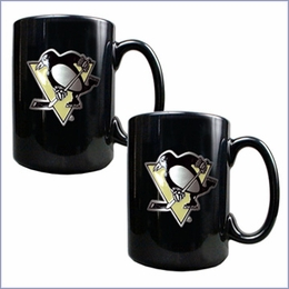 Primary NHL Logo Black Ceramic Mug Set
